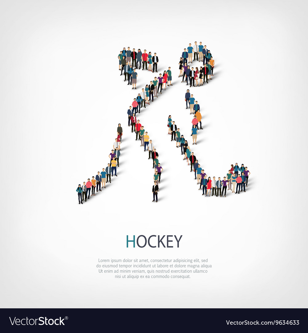 People sports hockey vector image
