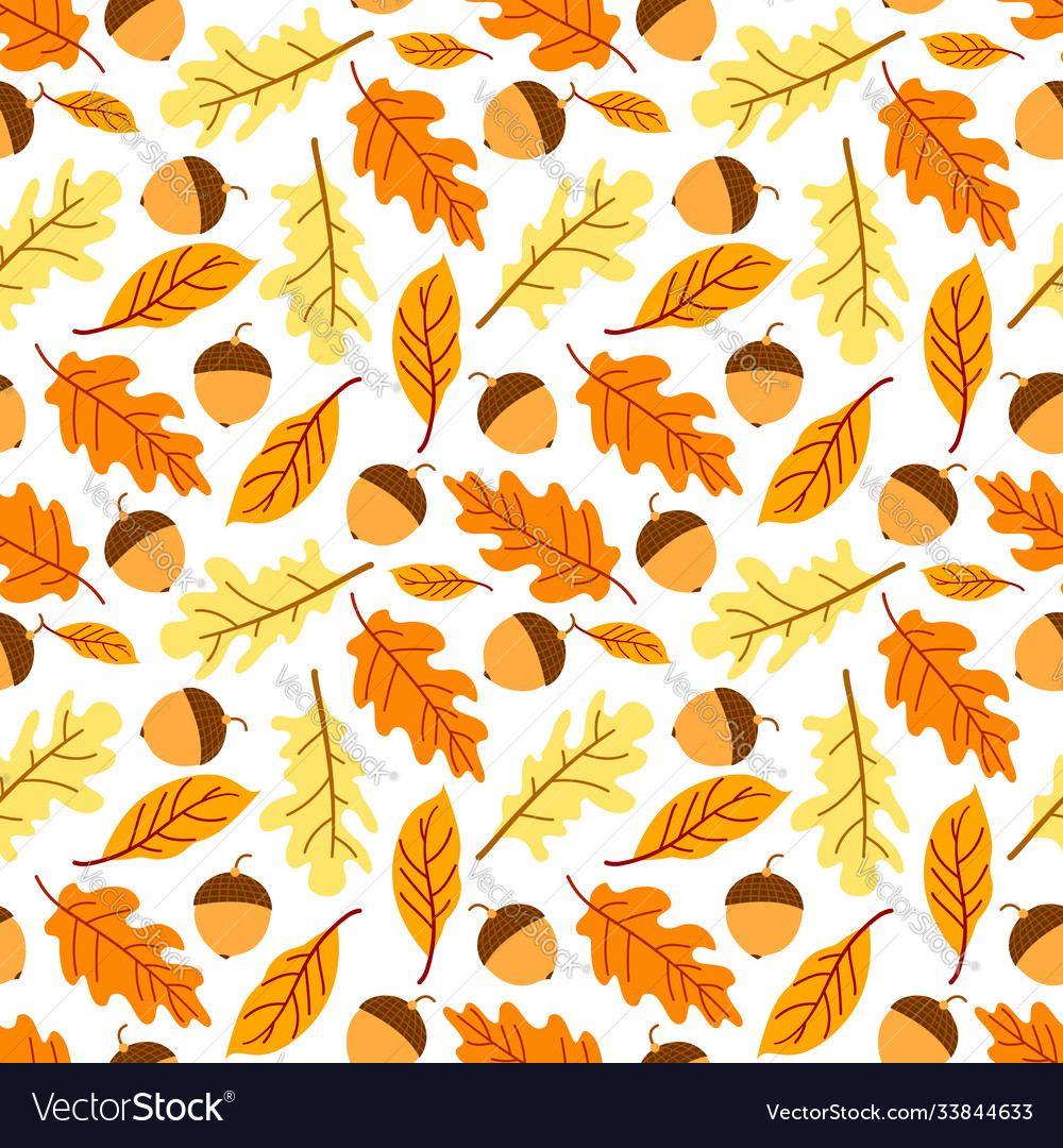 Seamless autumn leaf pattern