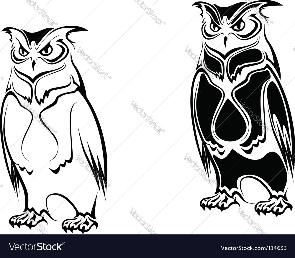 Tattoo Owl Vector. Artist: Seamartini; File type: Vector EPS