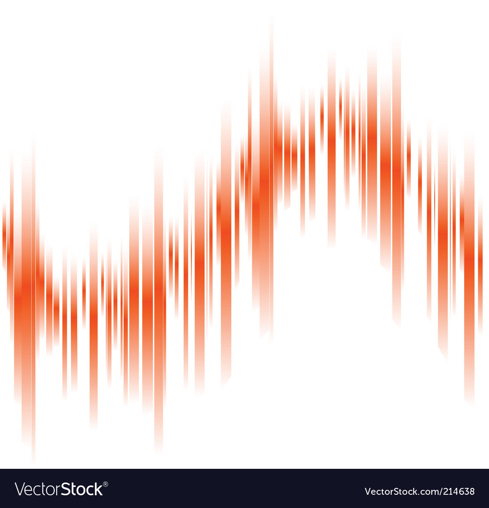 Abstract Orange Lines In Perspective