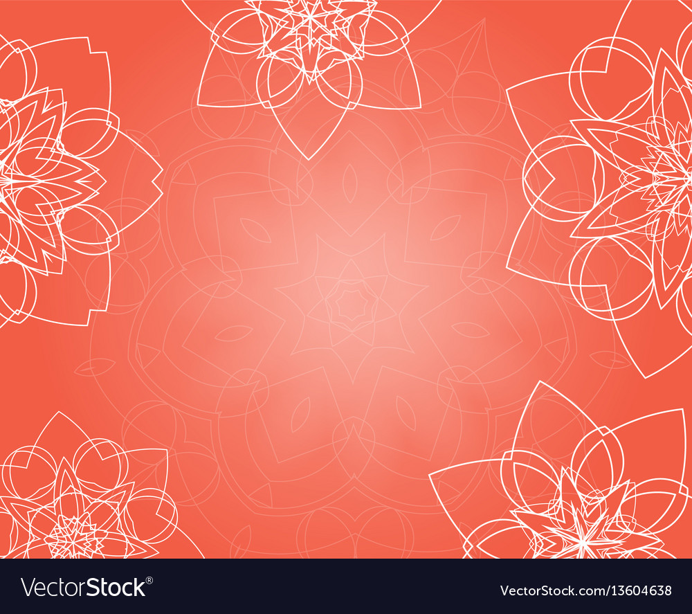 Abstract pink background with tribal floral