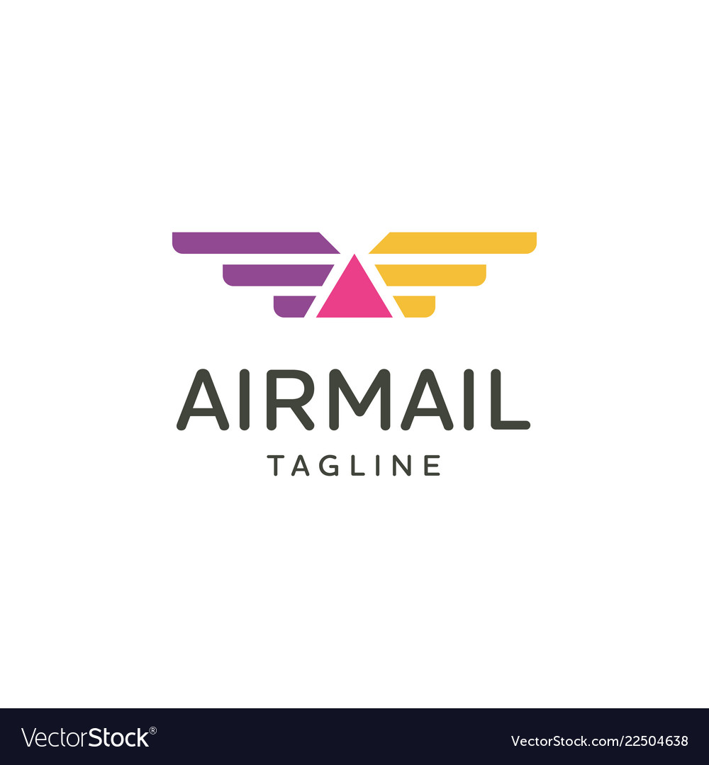 Airplane travel logo emblem design