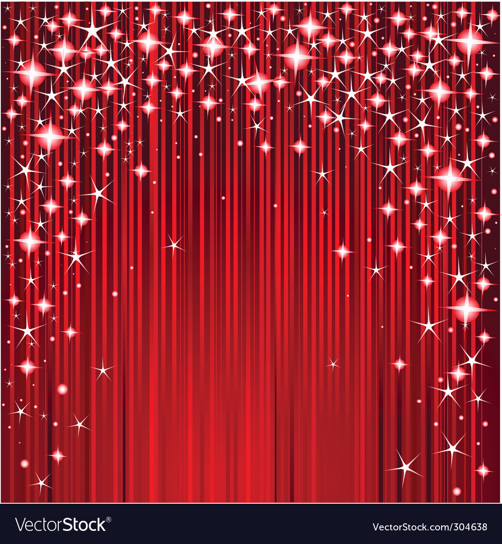 Christmas stars and stripes design vector image