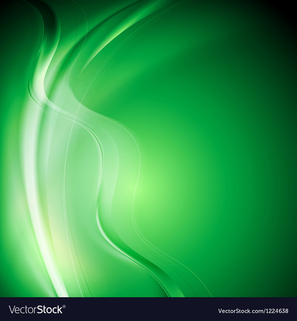 Elegant green wavy background vector image