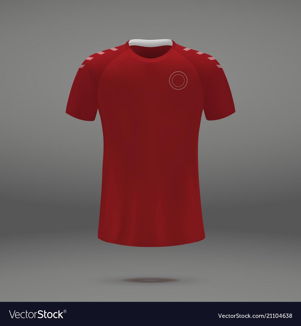 69960e378 Football kit of denmark Royalty Free Vector Image