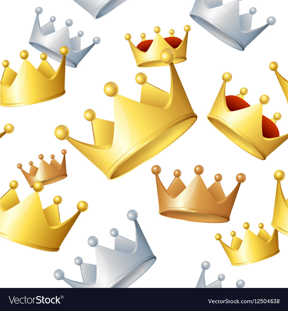 Golden Crowns Background Pattern