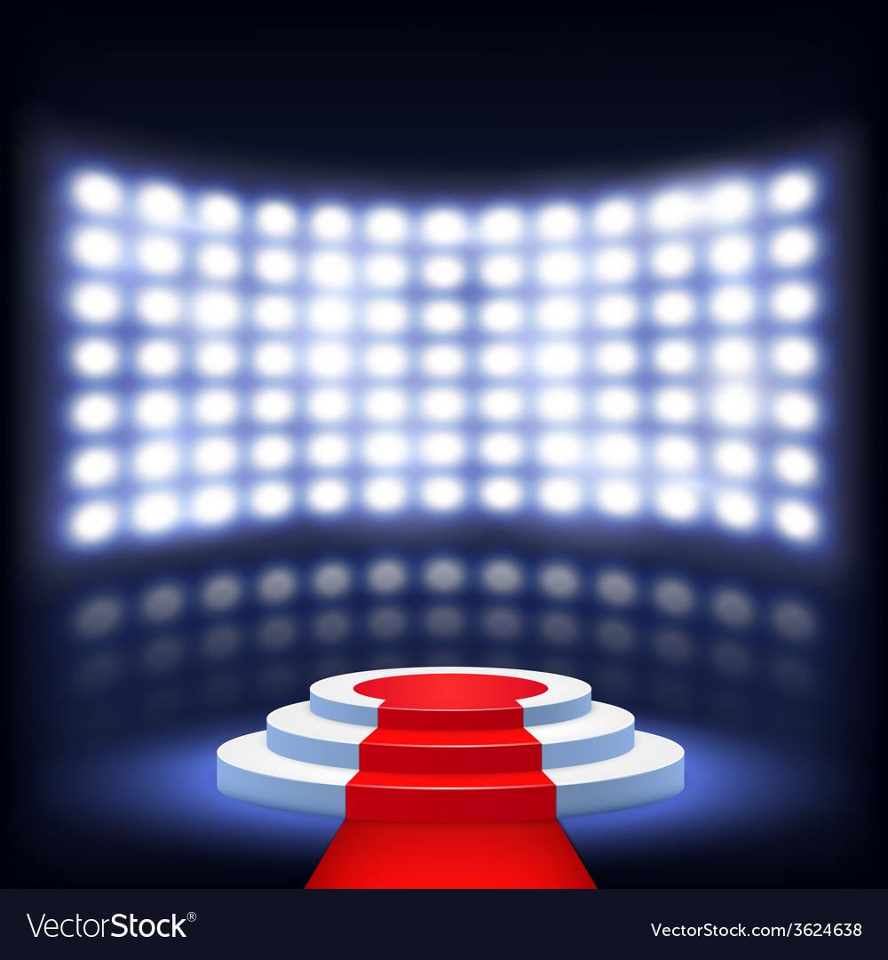 Illuminated Podium For Ceremony With Red Carpet
