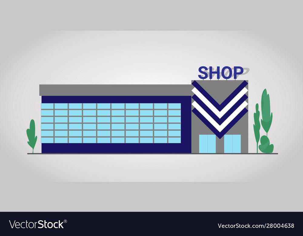 Shop facade flat building