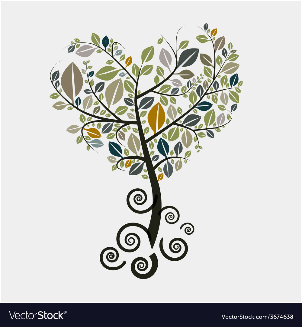 Tree Symbol with Curled Roots