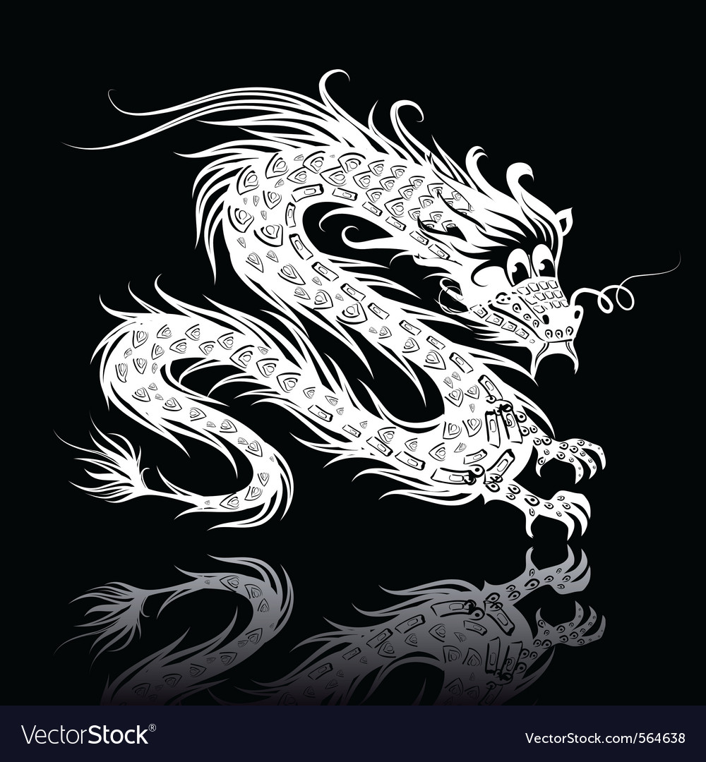 White chinese dragon