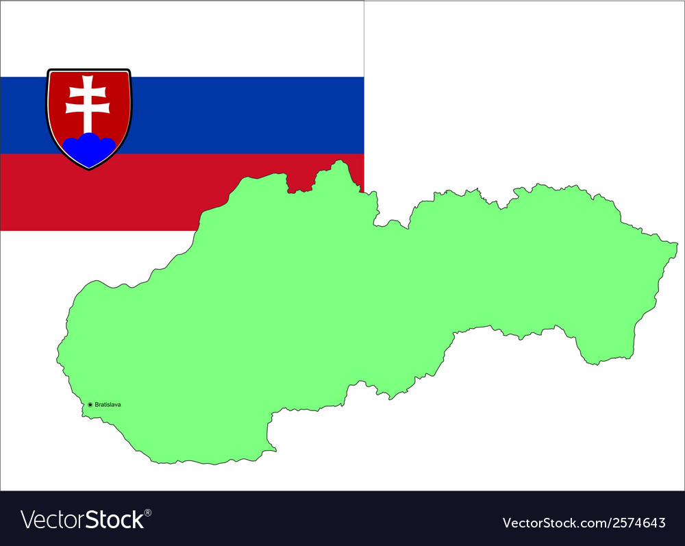 6215 slovakia map and flag
