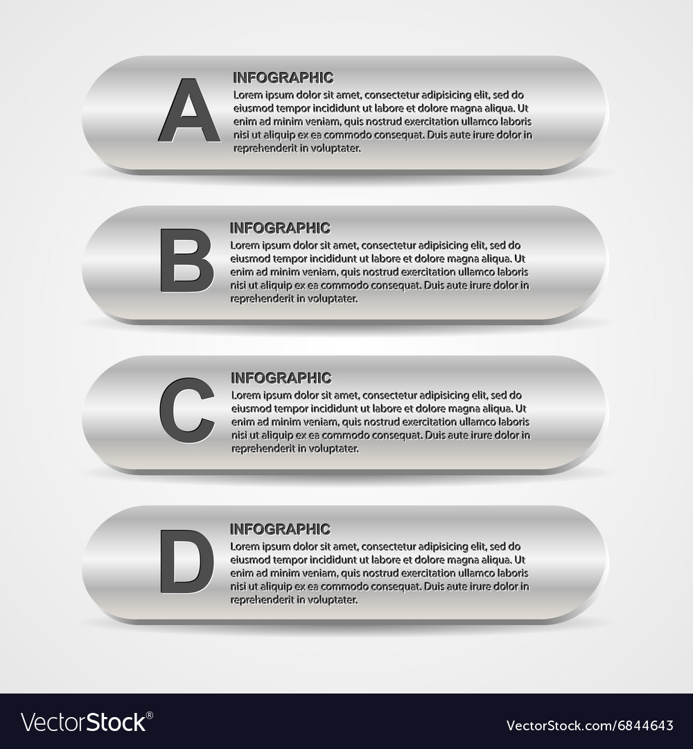 Abstract metal business options infographics