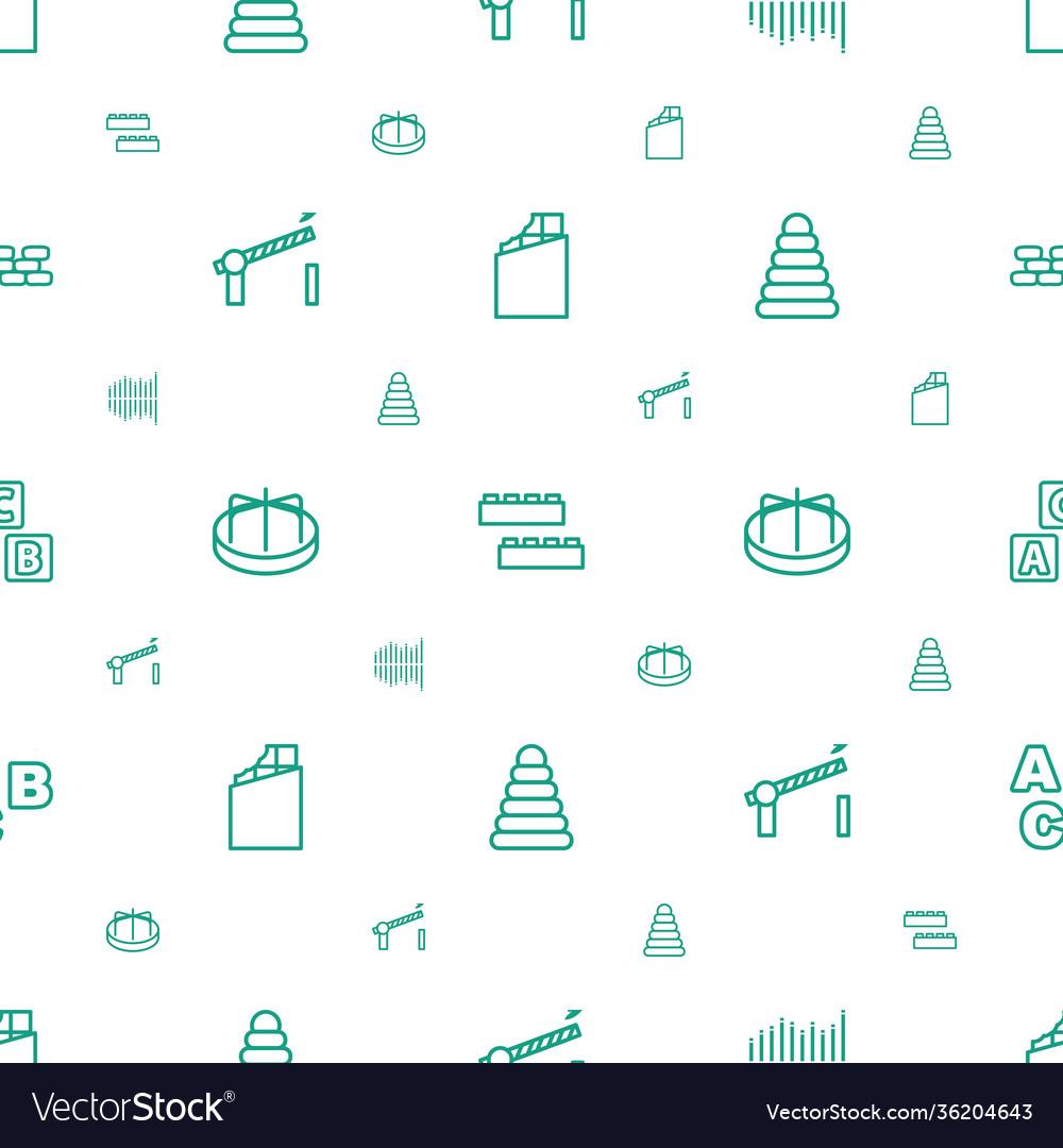 Block icons pattern seamless white background