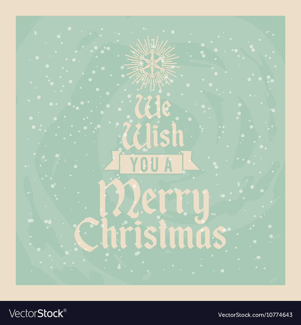 Happy Merry Christmas Card Icon Royalty Free Vector Image