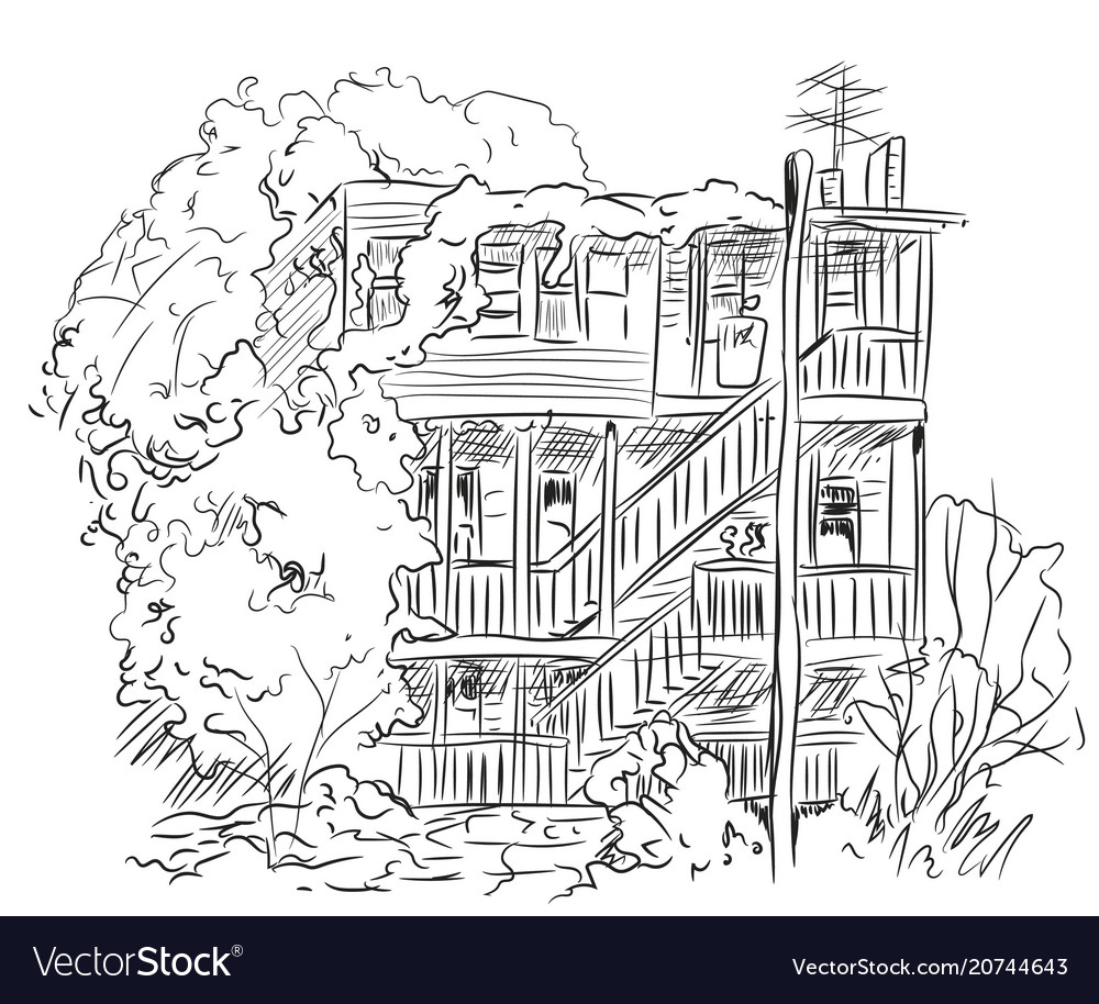 House with trees lines