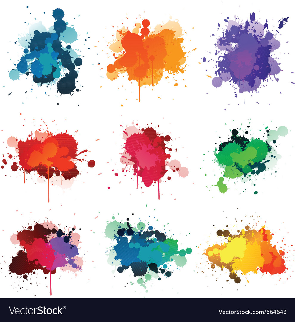 paint splatter royalty free vector image vectorstock rh vectorstock com paint splatter vector free paint splatter vector illustrator free