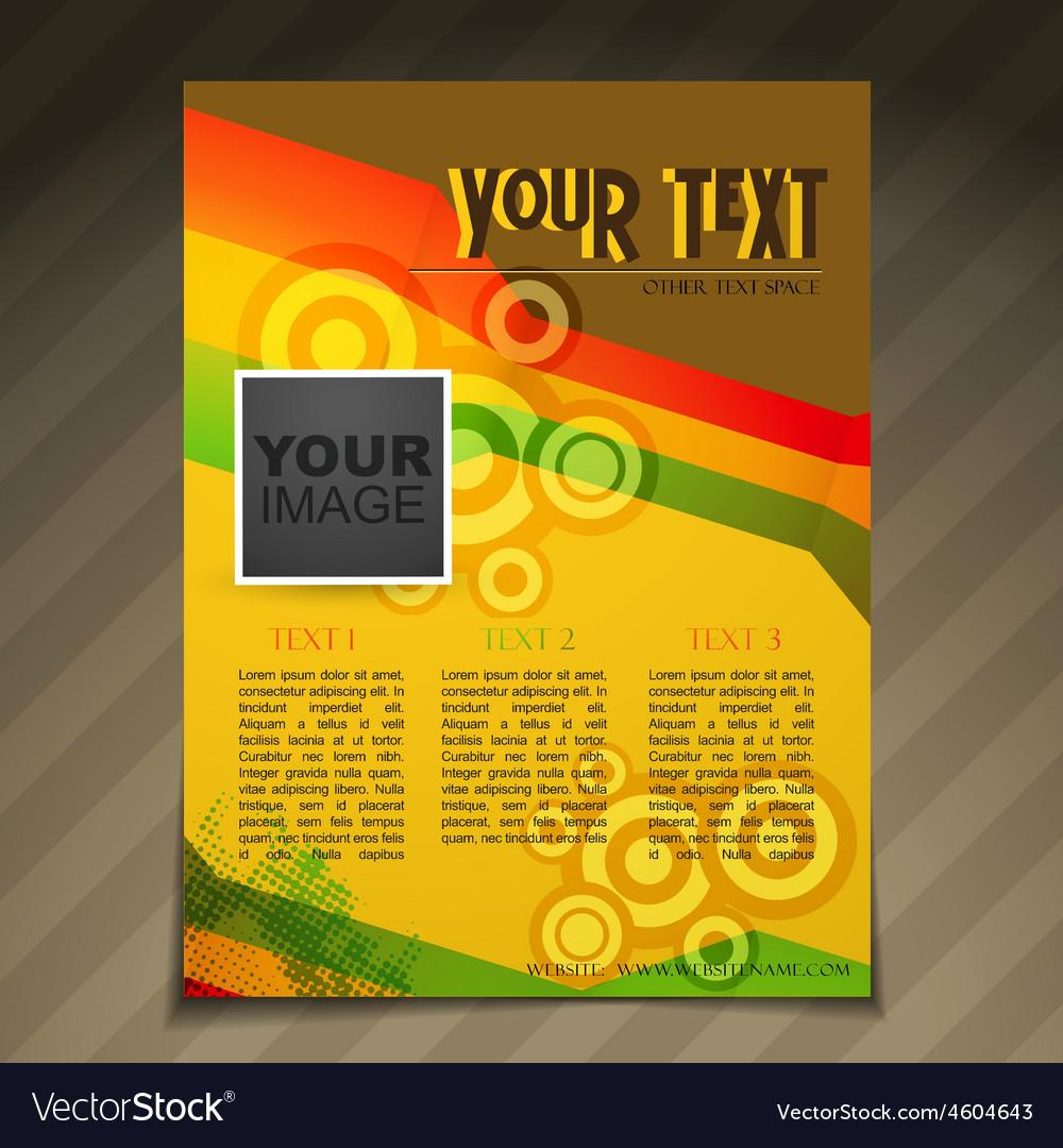 retro style flyer brochure design royalty free vector image