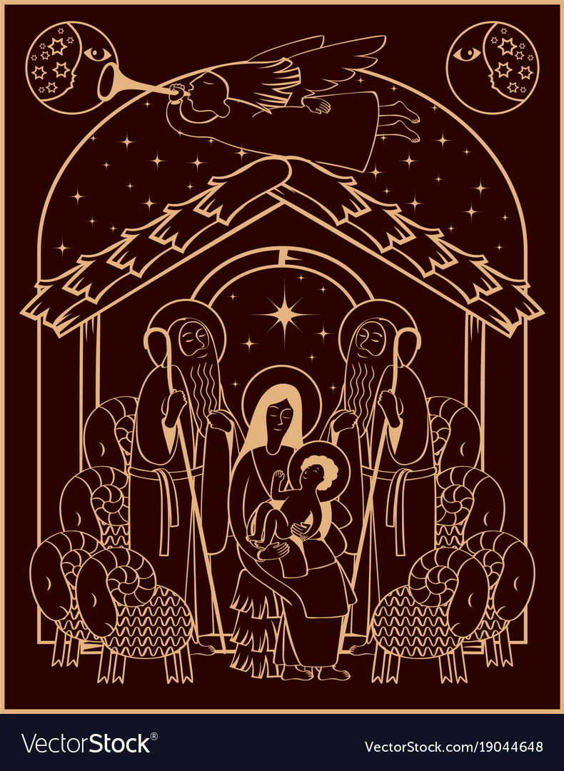 Adoration of the magi mary and jesus