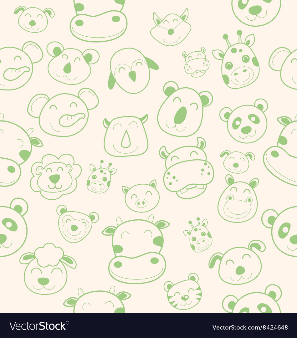 Animal head pattern
