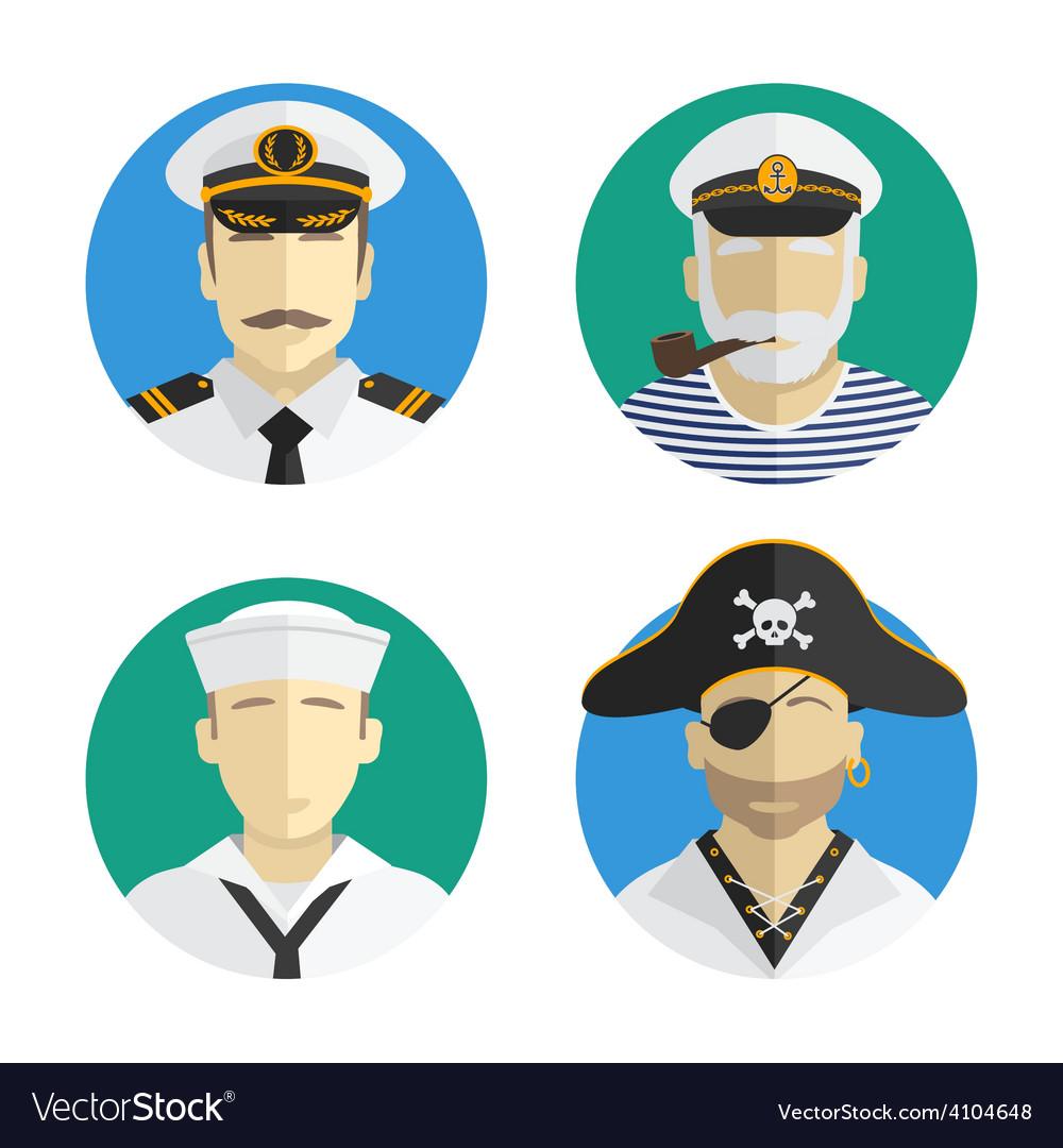 Avatars people profession sailor pirate