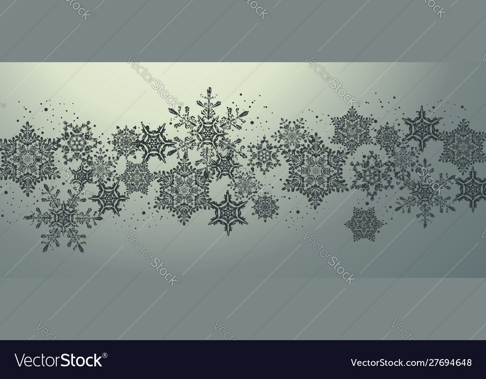 Christmas card design with snowflakes background