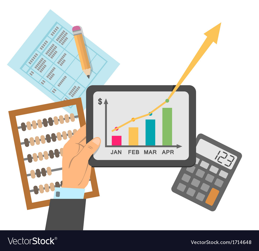 Financial business plan vector image