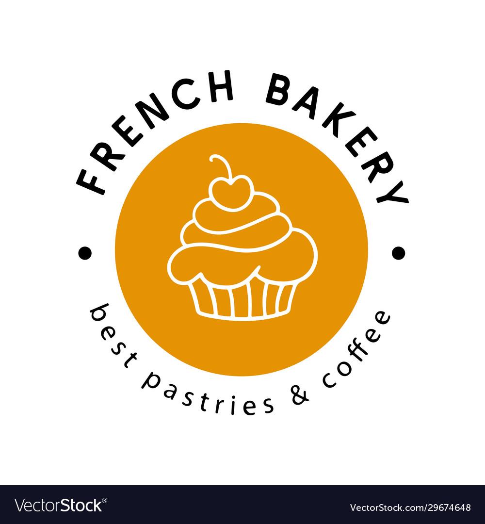 French bakery logotype badge label