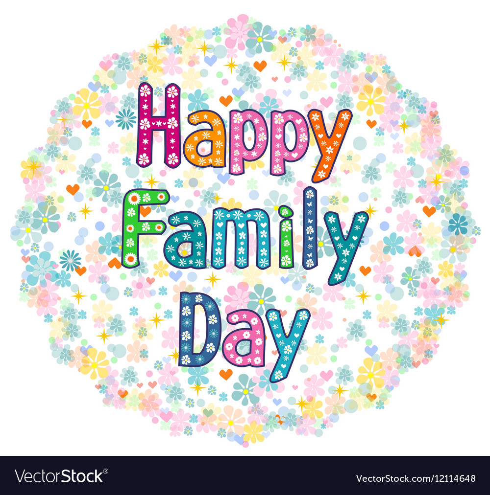 Happy Family Day Royalty Free Vector Image Vectorstock