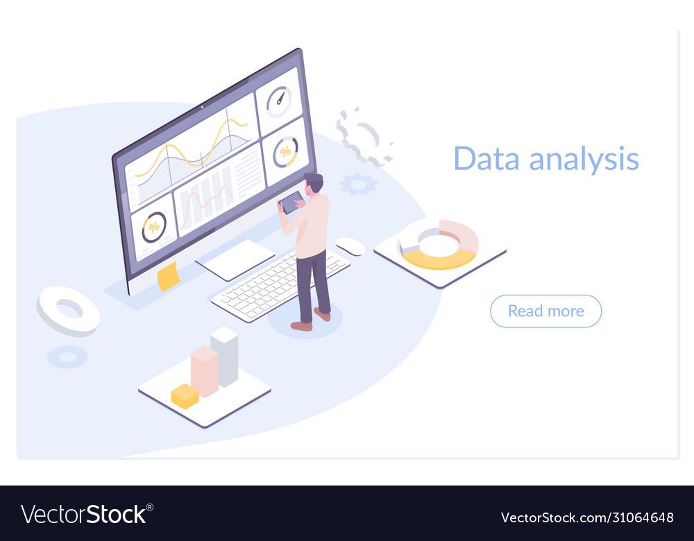 Modern flat isometric data
