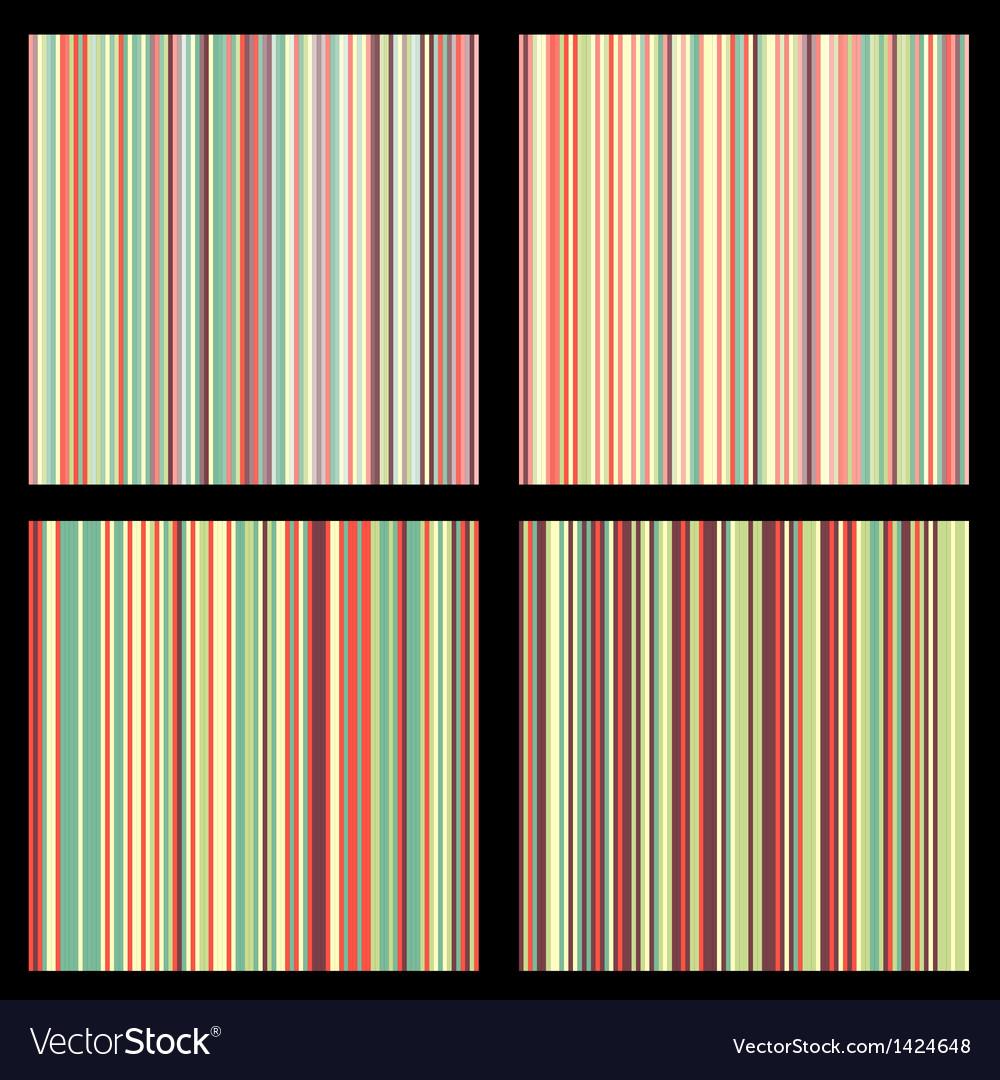 Set of striped seamless patterns