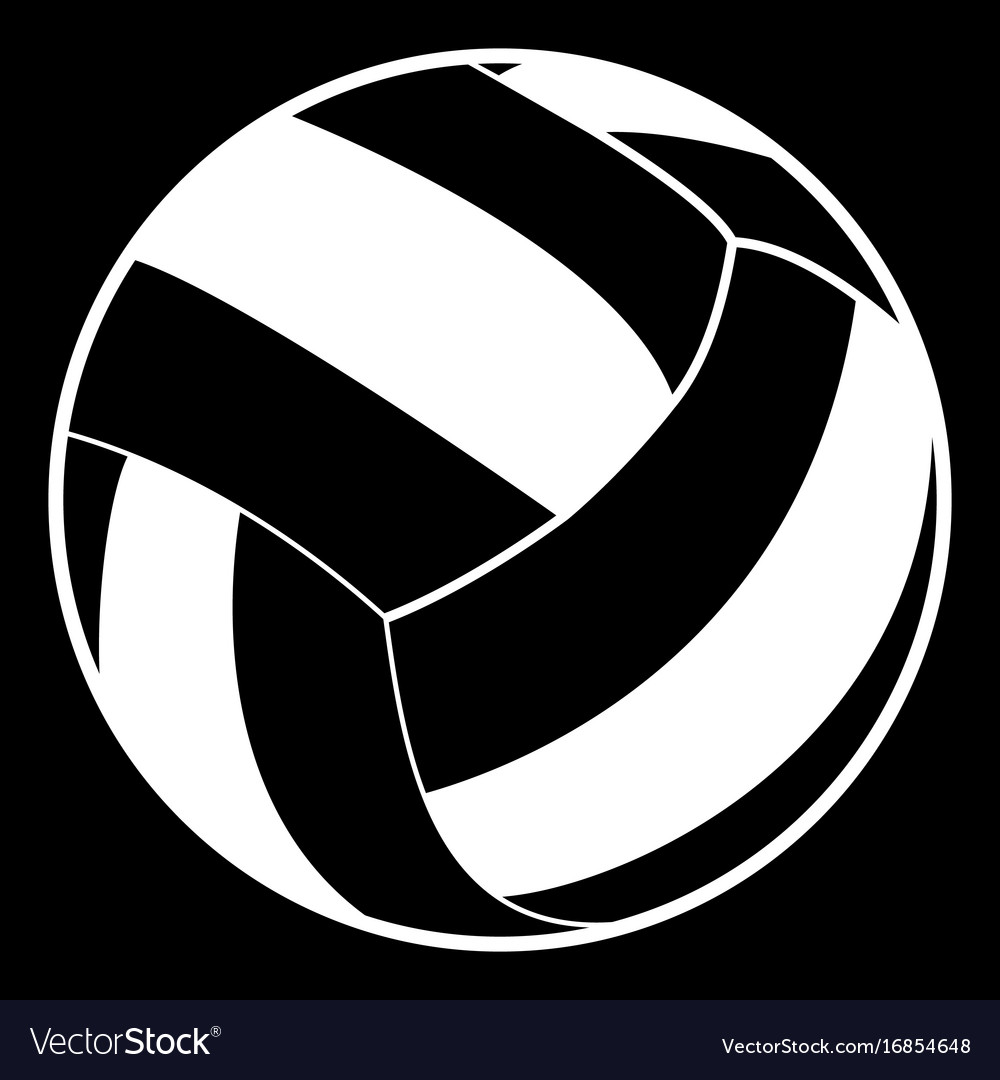 Volleyball ball white color icon