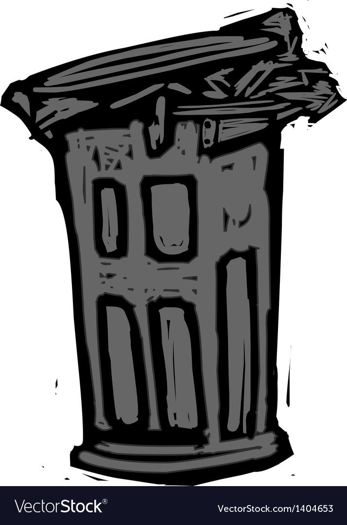 A wastebasket