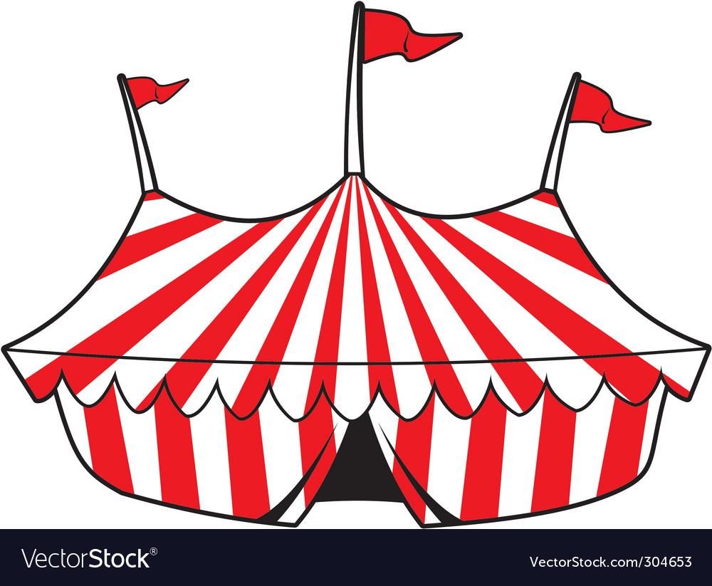 Cartoon tent vector image