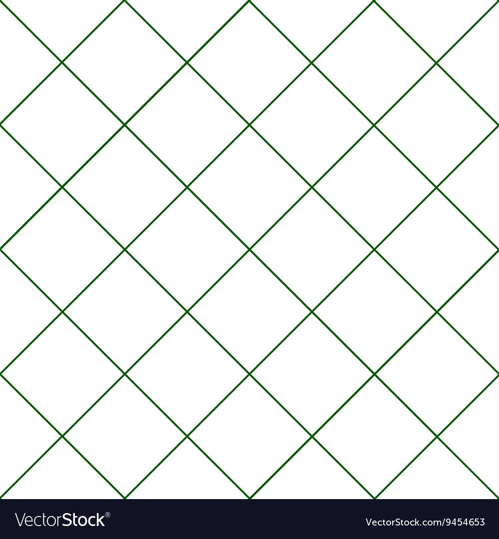 Dark Green Grid White Diamond Background