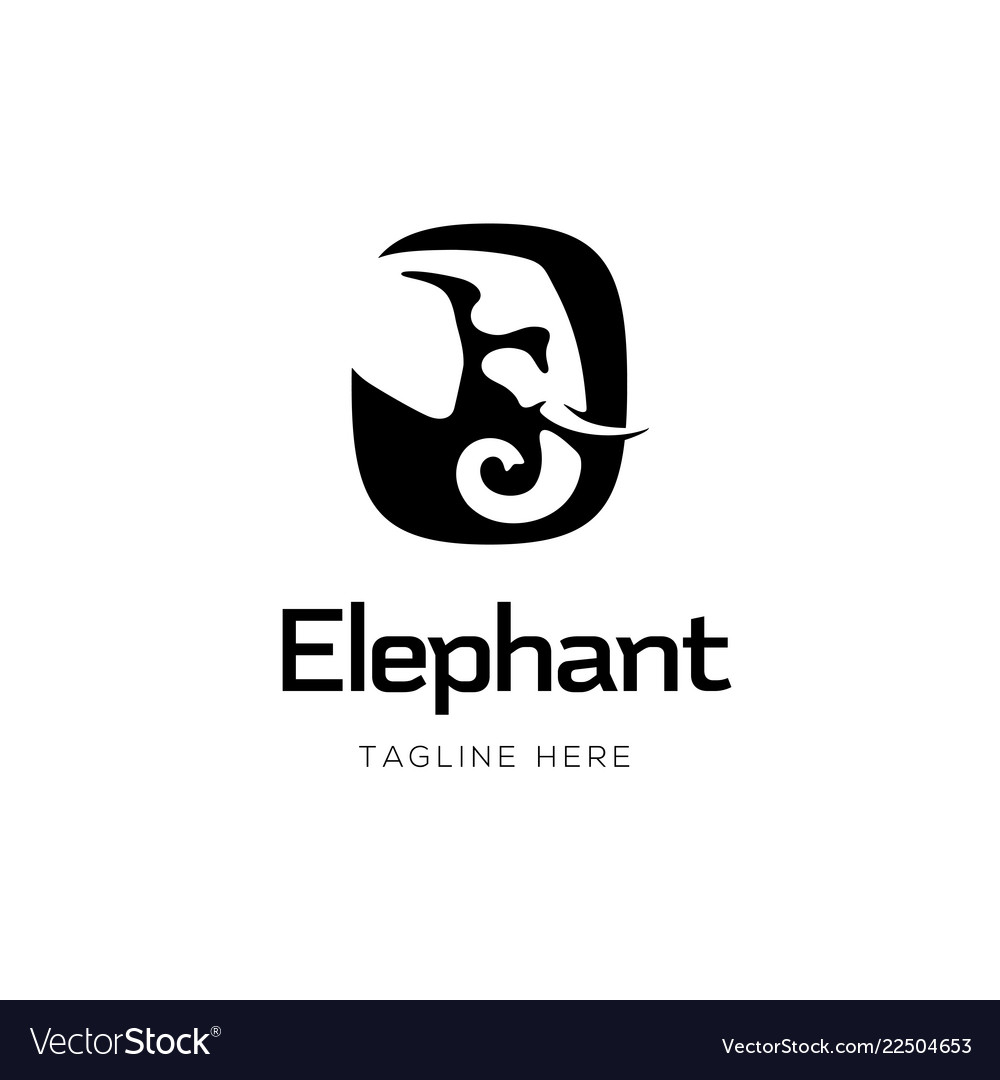 Elephant sign logo design