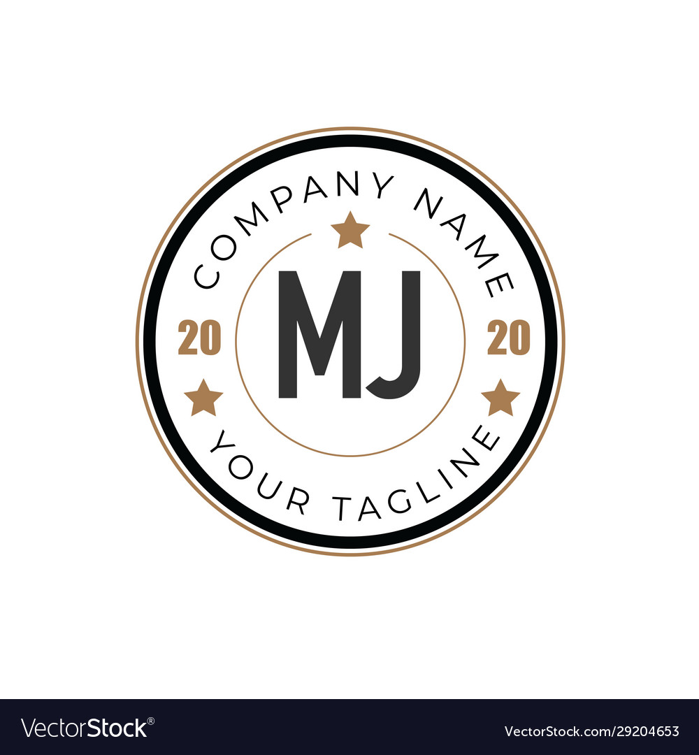 Initial letter mj elegance logo design template
