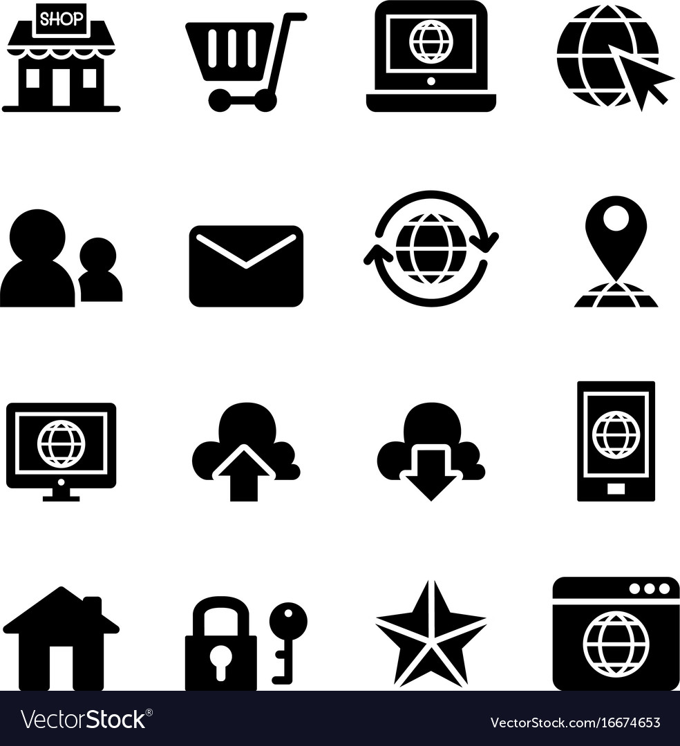 Internet website shopping online icon