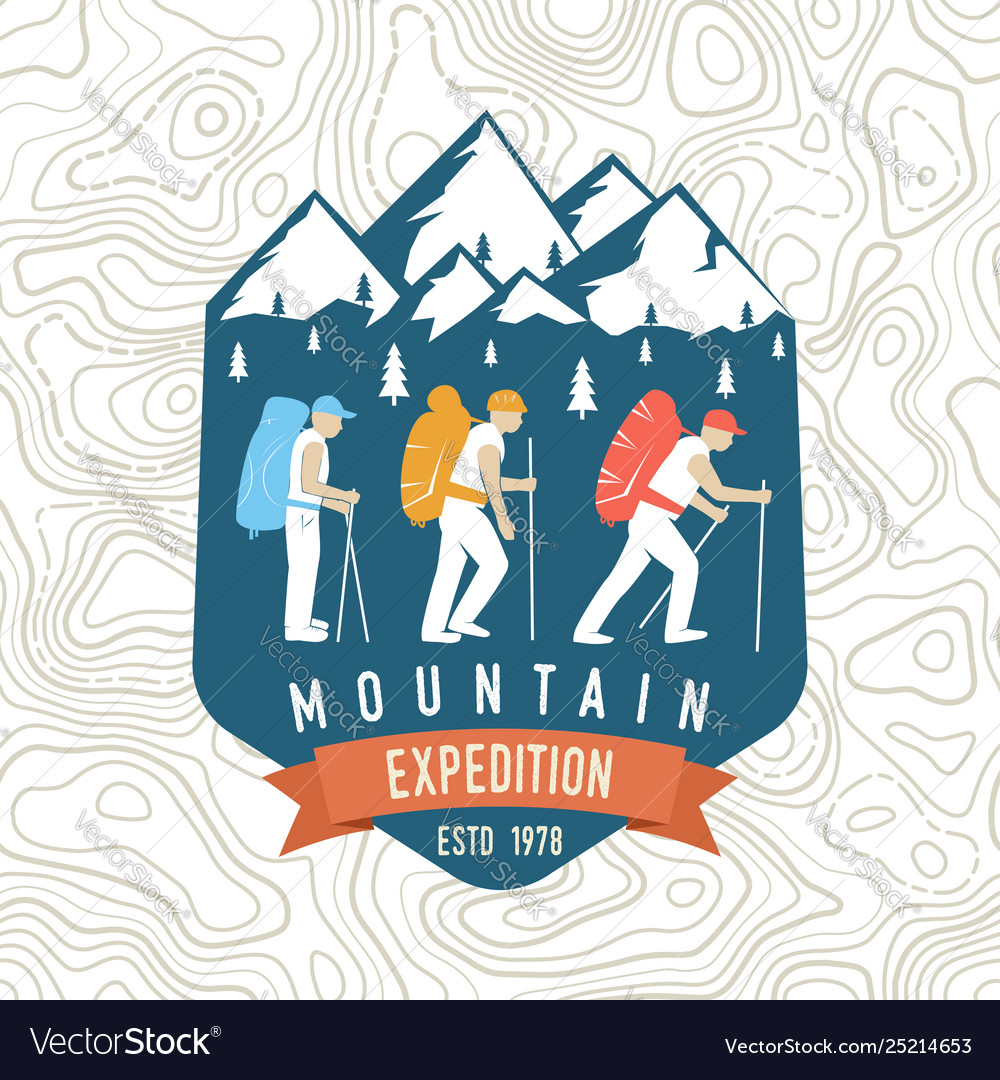 Mountain expedition patch concept for