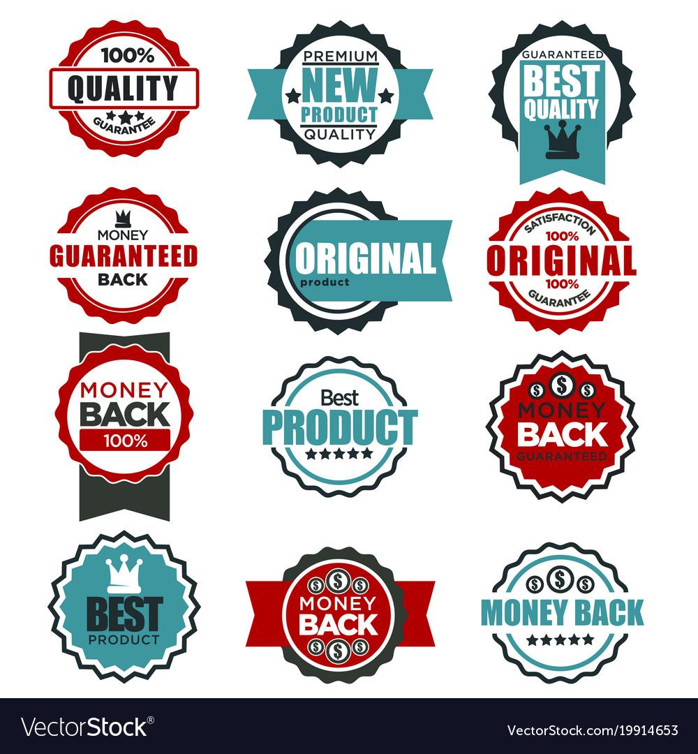Original quality guarantee labels templates for