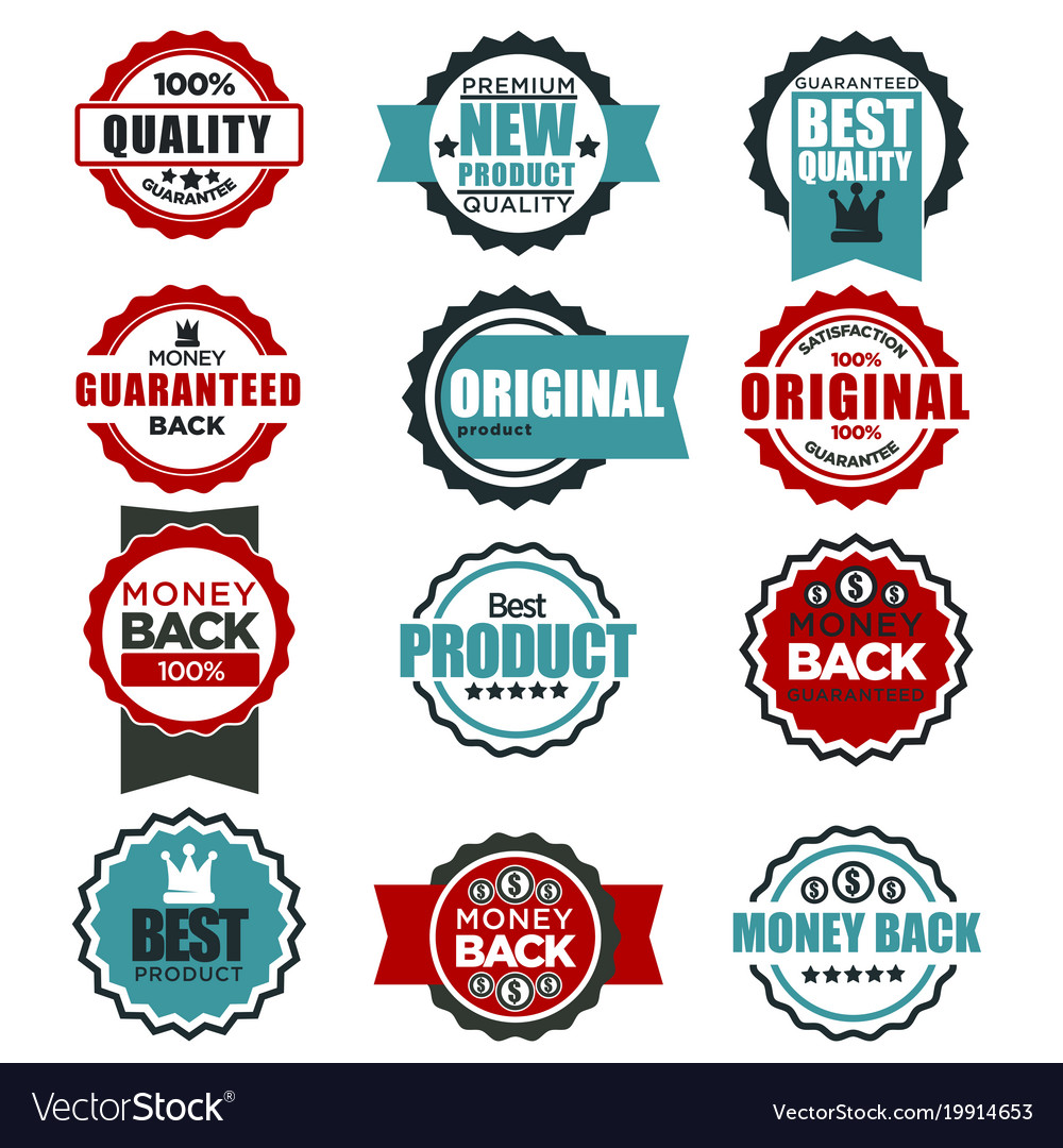 Original quality guarantee labels templates