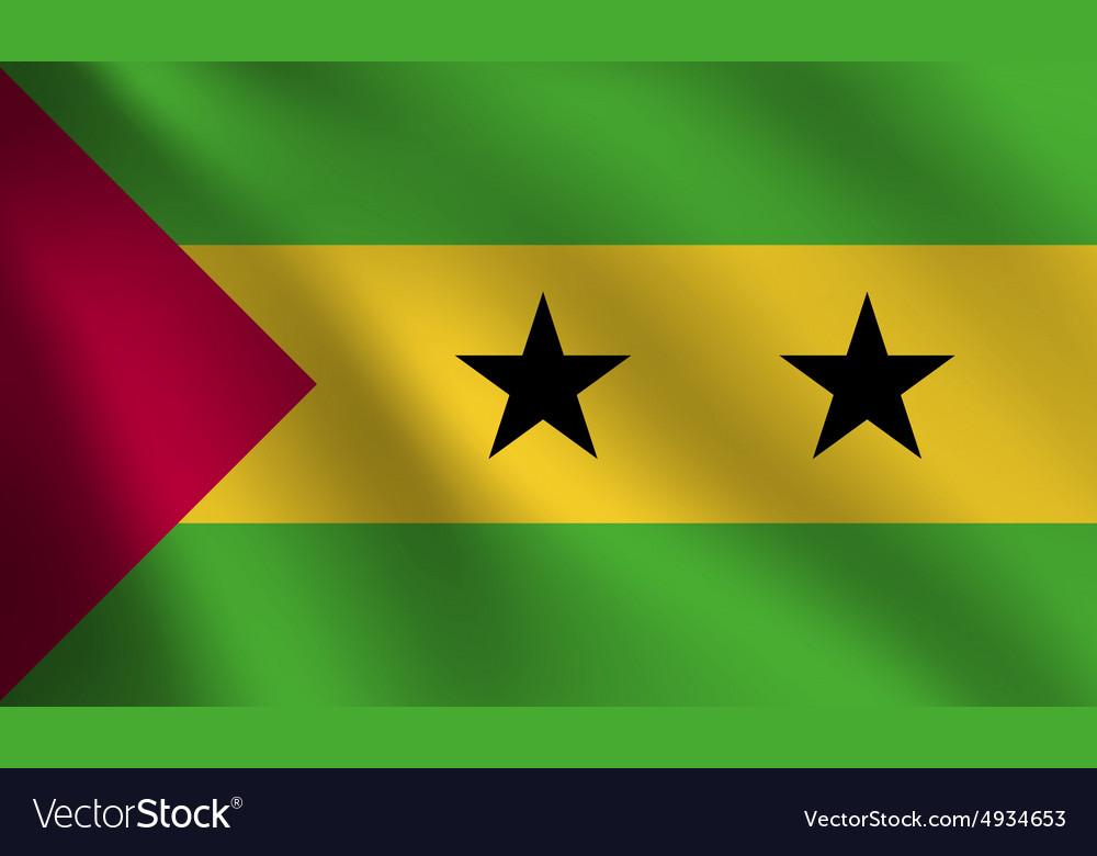 Sao Tome and Principe flag vector image