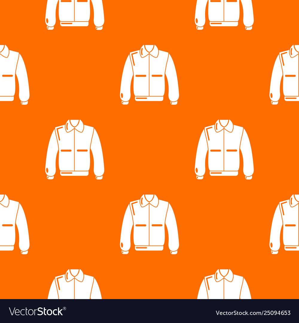 Varsity jacket pattern orange