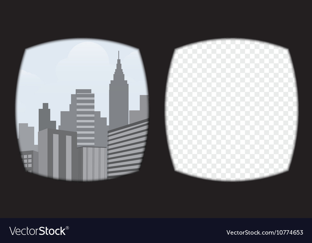Virtual reality glasses overlay on the transparent