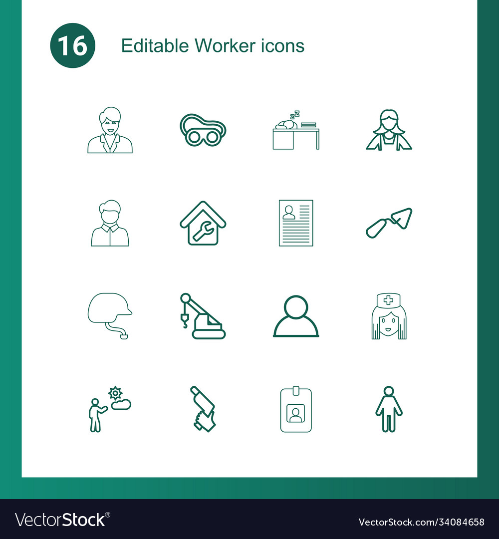 16 worker icons