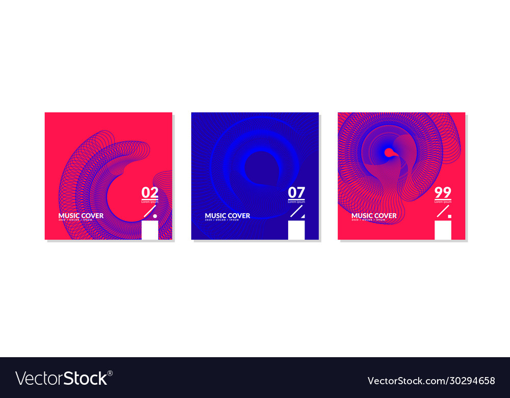 A set music covers with abstract elements in a