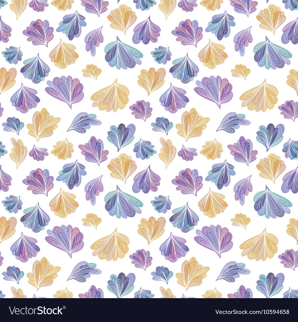 Abstract Fall Leaves Pattern vector image