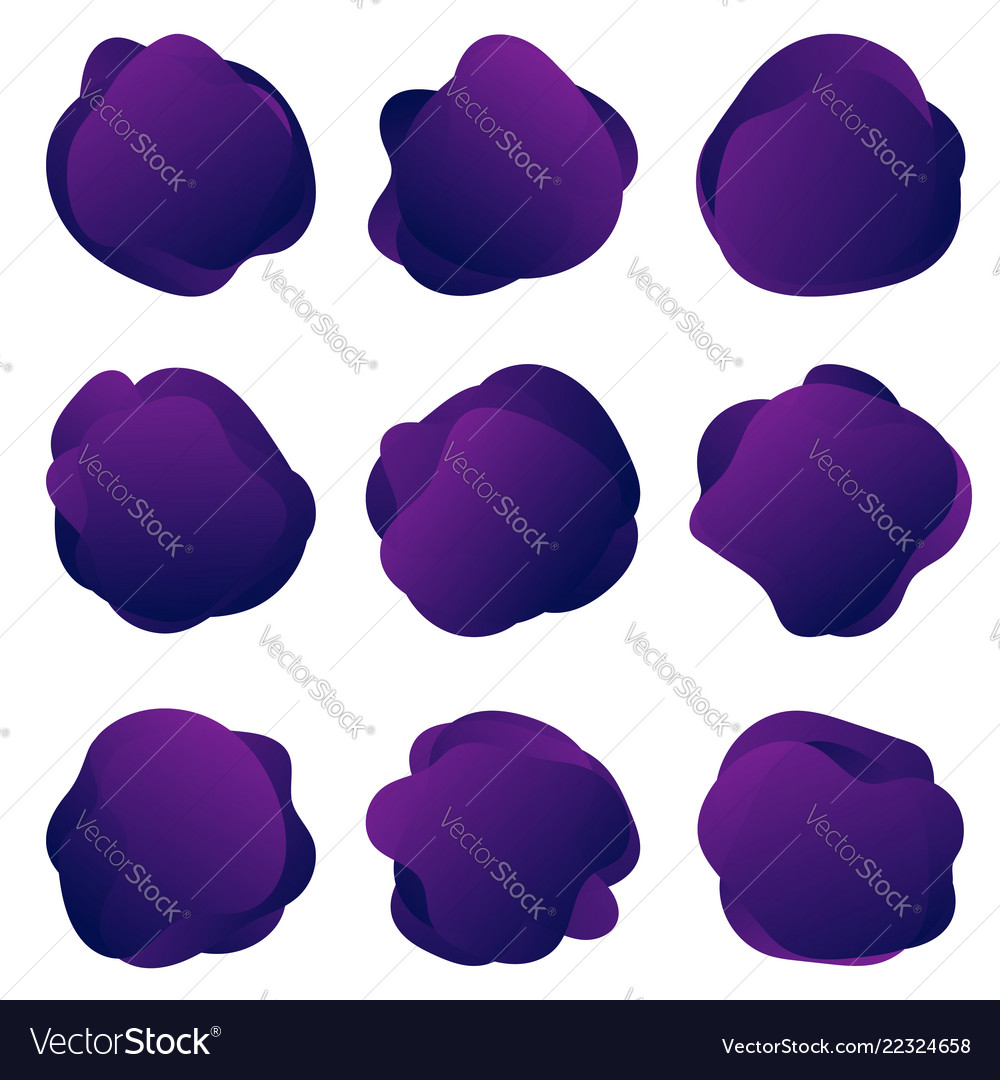 Abstract fluid purple shapes abstract round
