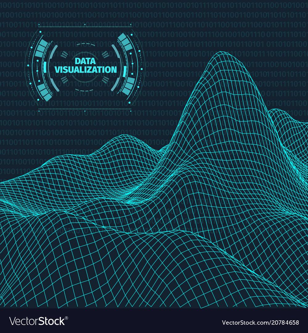 Data visualization background futuristic design