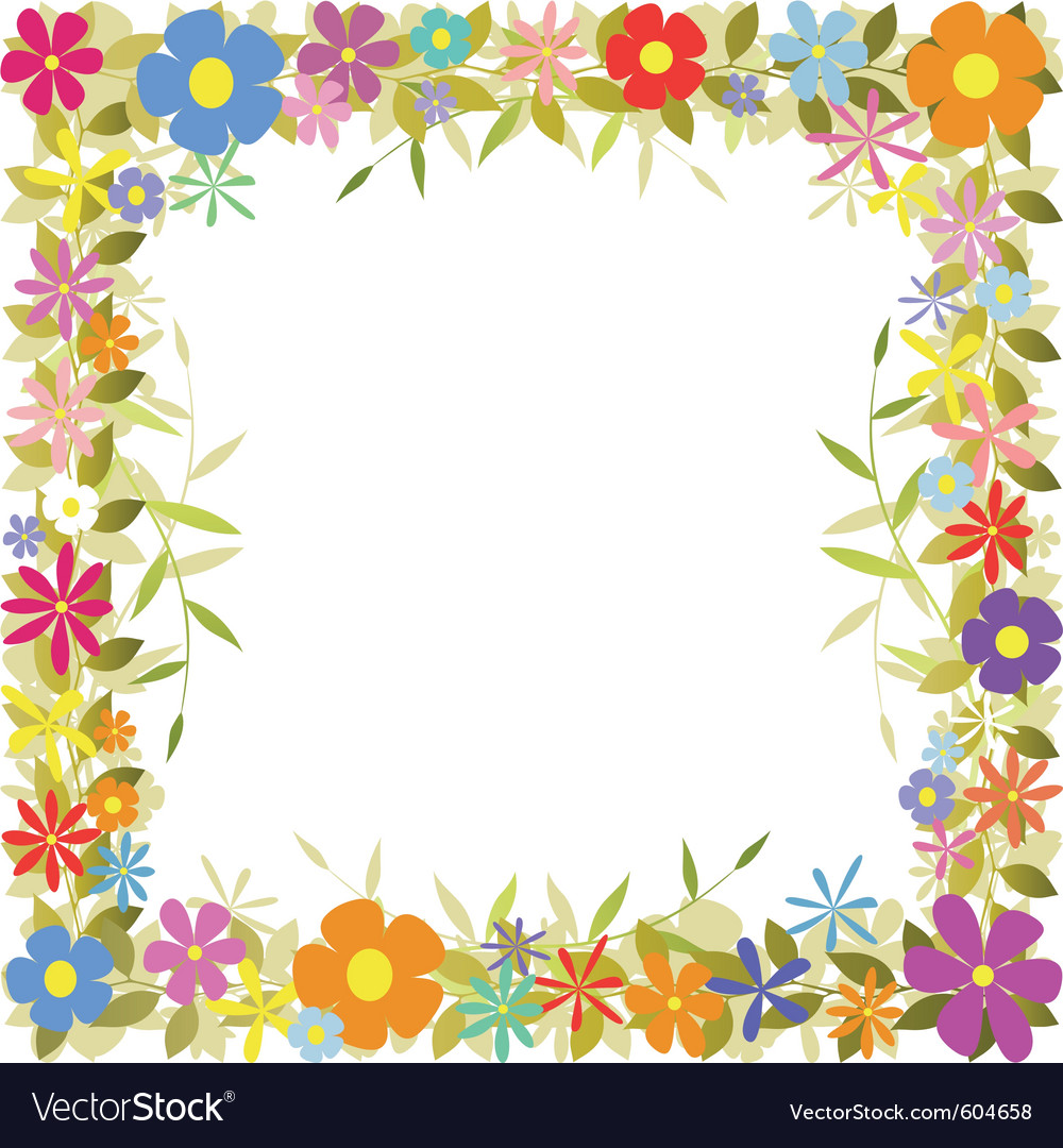 Floral Border Royalty Free Vector Image