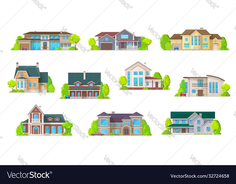 Houses bungalow cottages real estate buildings